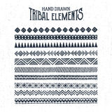 Hand drawn tribal ornaments set. Vector illustration Royalty Free Stock Photo
