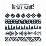 Hand drawn tribal ornaments set. Vector illustration Stock Photos