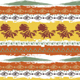 Hand drawn tribal pattern white background Royalty Free Stock Images