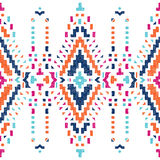 Hand drawn tribal seamless border. Hand drawn colorful tribal seamless border Stock Photography