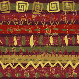 Hand drawn tribal seamless pattern Royalty Free Stock Photos