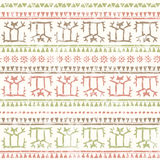 Hand drawn tribal seamless pattern with ancient geometric ornament Royalty Free Stock Photos