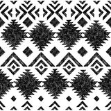 Hand drawn tribal seamless pattern Royalty Free Stock Images