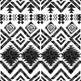 Hand drawn tribal seamless pattern Royalty Free Stock Photos