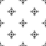 Hand drawn tribal seamless pattern. Hand drawn black and white tribal seamless pattern Royalty Free Stock Photo