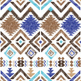 Hand drawn tribal seamless pattern Stock Photography
