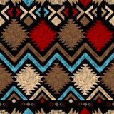 Hand drawn tribal seamless pattern Stock Image