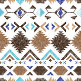 Hand drawn tribal seamless pattern Stock Photos