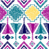 Hand drawn tribal seamless pattern Stock Images