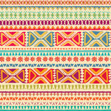 Hand drawn tribal seamless pattern with geometric ornament. Royalty Free Stock Photos
