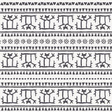 Hand drawn tribal seamless pattern with geometric ornament. Stock Image
