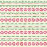 Hand drawn tribal seamless pattern with geometric ornament. stock illustration