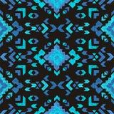 Hand drawn tribal seamless pattern Stock Photos