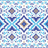 Hand drawn tribal seamless pattern. Hand drawn highly detailed tribal seamless pattern Royalty Free Stock Photography