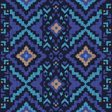 Hand drawn tribal seamless pattern. Hand drawn highly detailed tribal seamless pattern Stock Photography