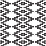Hand drawn tribal seamless pattern. Hand drawn highly detailed tribal seamless pattern Royalty Free Stock Photo