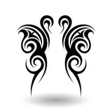 Hand Drawn Tribal Tattoo Stock Image