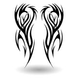 Hand Drawn Tribal Tattoo Stock Photography