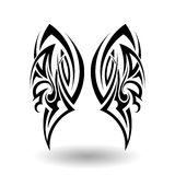 Hand Drawn Tribal Tattoo Stock Image