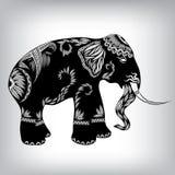 Hand Drawn Tribal Totem Elephant Stock Image