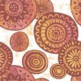 Hand drawn tribal watercolor mandalas seamless background Stock Photo
