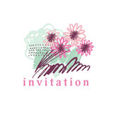 Hand drawn tropical floral Stock Photo