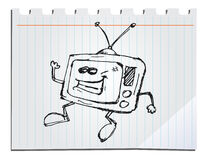 Hand drawn tv Royalty Free Stock Images