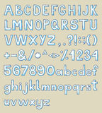 Hand drawn typeface. Hand drawn alphabet, upper and lower case and symbols Royalty Free Stock Image
