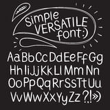 Hand drawn  typeset Royalty Free Stock Image