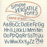 Hand drawn  typeset Stock Image