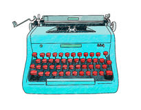 Hand Drawn Typewriter Royalty Free Stock Image