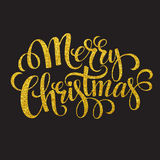 Hand drawn typography card. Merry christmas Royalty Free Stock Image