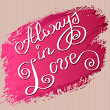 Hand drawn typography card. Valentine love card Stock Image