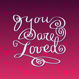 Hand drawn typography card. Valentine love card Royalty Free Stock Photography