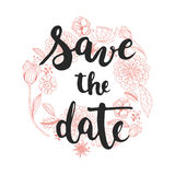 Hand drawn typography lettering phrase Save the date isolated template for your design. vector illustration