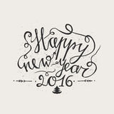 Hand drawn typography poster. Happy Holidays greetings hand-lettering inscription - Happy New Year  isolated on white background. Hand drawn typography poster Stock Image