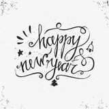 Hand drawn typography poster. Happy Holidays greetings hand-lettering inscription - Happy New Year  isolated on white background. Royalty Free Stock Images