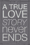 Hand drawn typography poster. Romantic quote Royalty Free Stock Photo