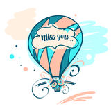 Hand drawn typography poster. Stylish illustration baloon Stock Photo
