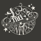 Hand drawn typography - You are my universe. Stock Photos