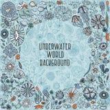 Hand drawn underwater world background Royalty Free Stock Photo