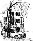 Hand drawn urban sketch Royalty Free Stock Photo