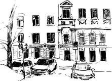Hand drawn urban sketch Royalty Free Stock Photos