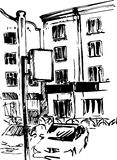 Hand drawn urban sketch Royalty Free Stock Image