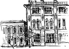 Hand drawn urban sketch Royalty Free Stock Photography