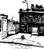 Hand drawn urban sketch Stock Photos