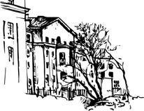 Hand drawn urban sketch Stock Photography