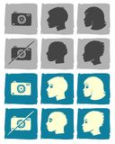Hand drawn userpics. A hand drawn user pics collection Royalty Free Stock Image