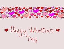 Hand-drawn Valentine's Day background with heart Royalty Free Stock Photos