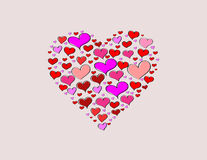 Hand-drawn Valentine's Day love heart Royalty Free Stock Image